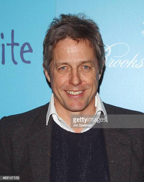 """Actor Hugh Grant attends The Cinema Society and Brooks Brothers host a screening of """"The Rewrite"""" at Landmark's Sunshine Cinema on February 10, 2015..."""