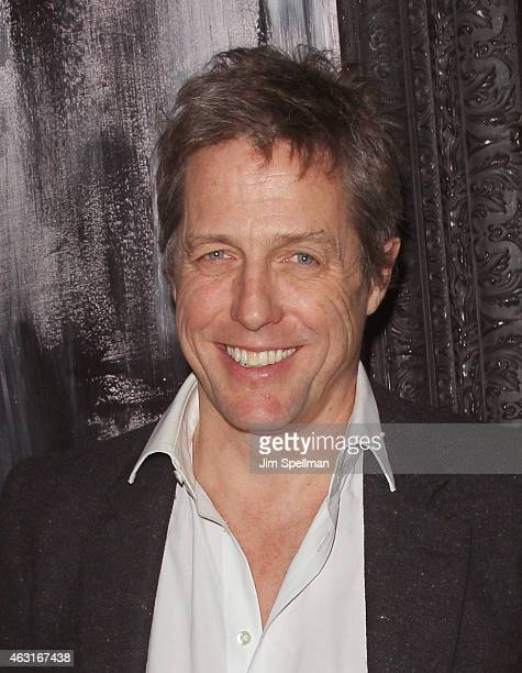 """Actor Hugh Grant attends The Cinema Society and Brooks Brothers host a screening of """"The Rewrite"""" after party at The Jimmy at the James Hotel on..."""