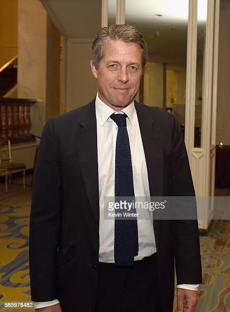 Actor Hugh Grant attends the Hollywood Foreign Press Association's Grants Banquet at the Beverly Wilshire Four Seasons Hotel on August 4 2016 in...