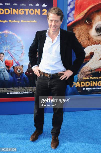 Actor Hugh Grant attends the Los Angeles Premiere 'Paddington 2' at Regency Village Theatre on January 6 2018 in Westwood California