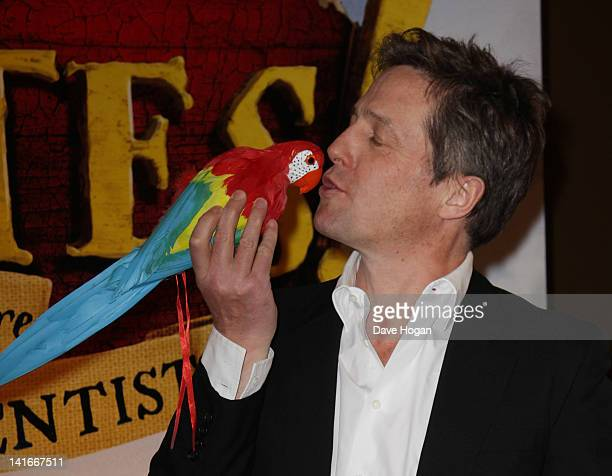 Actor Hugh Grant attends The Pirates In An Adventure With Scientists UK premiere at The Mayfair Hotel on March 21 2012 in London England