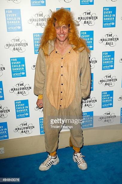 Actor Hugh Grant attends the UNICEF Halloween Ball at One Mayfair on October 29 2015 in London England