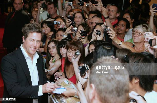 Actor Hugh Grant greets fans at the Australian premiere of 'Did You Hear About The Morgans' at Event Cinemas George Street on December 22 2009 in...