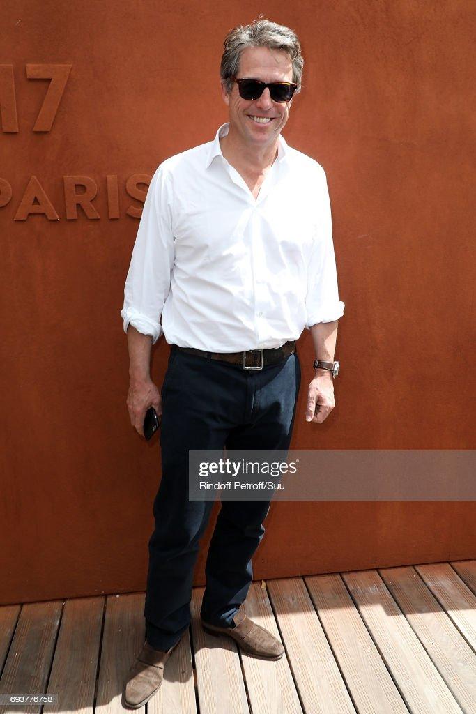 Actor Hugh Grant is seen at Roland Garros on June 8, 2017 in Paris, France.