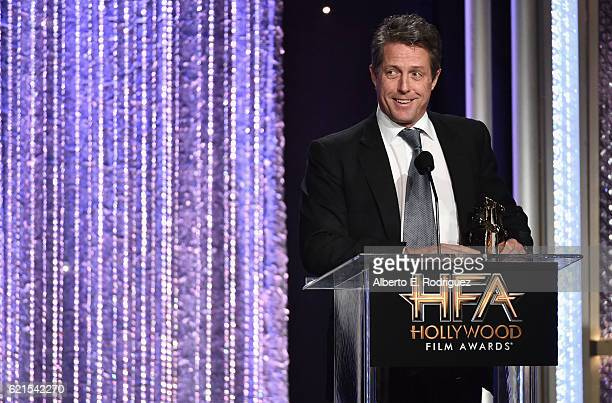 Actor Hugh Grant recipient of the Hollywood Supporting Actor Award for Florence Foster Jenkins speaks onstage during the 20th Annual Hollywood Film...