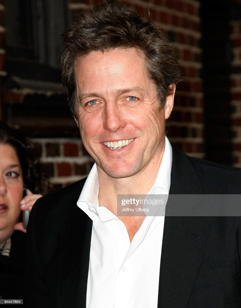 "Hugh Grant Visits ""Late Show With David Letterman"" - December 14, 2009"