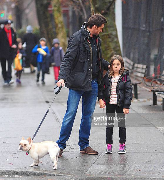 Actor Hugh Jackman and Ava Jackman as seen on December 10 2012 in New York City