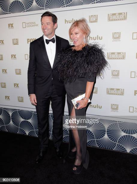 Actor Hugh Jackman and Deborralee Furness attends FOX FX and Hulu 2018 Golden Globe Awards After Party at The Beverly Hilton Hotel on January 7 2018...