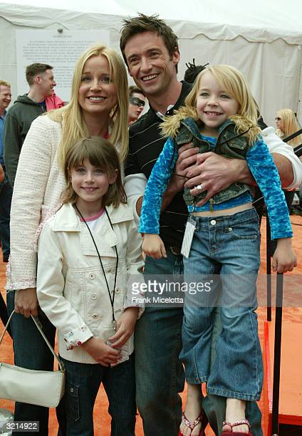 Actor Hugh Jackman and family attend Nickelodeon's 17th Annual Kids' Choice Awards at Pauley Pavilion on the campus of UCLA April 3 2004 in Westwood...