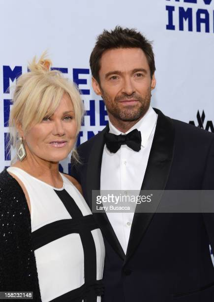 Actor Hugh Jackman and his wife Deborra-Lee Furness arrive at the Museum of Moving Images salute to Hugh Jackman at Cipriani Wall Street on December...