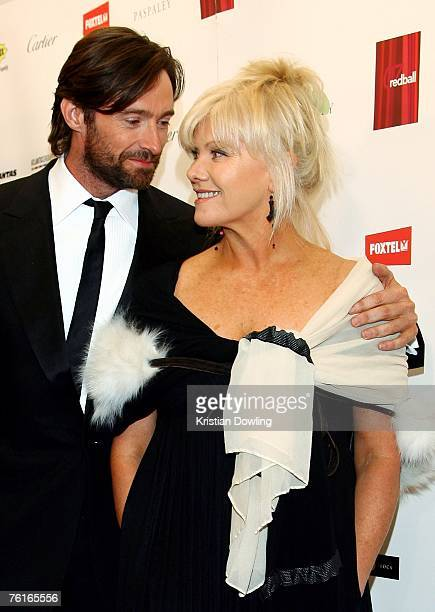 Actor Hugh Jackman and his wife Deborra-Lee Furness attend the 2007 Red Ball fundraising event for the Bone Marrow Donor Institute at Peninsula on...