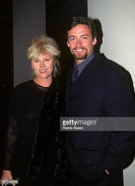 Actor Hugh Jackman and his wife DeborraLee Furness attend the Variety Club Heart Awards July 18 1997 in Sydney Australia
