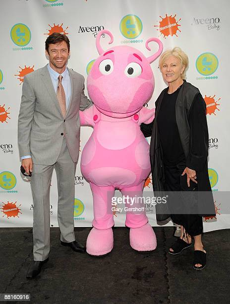 Actor Hugh Jackman and Wife Deborra Lee Furness attend the 3rd Annual Baby Buggy bedtime bash at Victorian Gardens at Wollman Rink Central Park on...