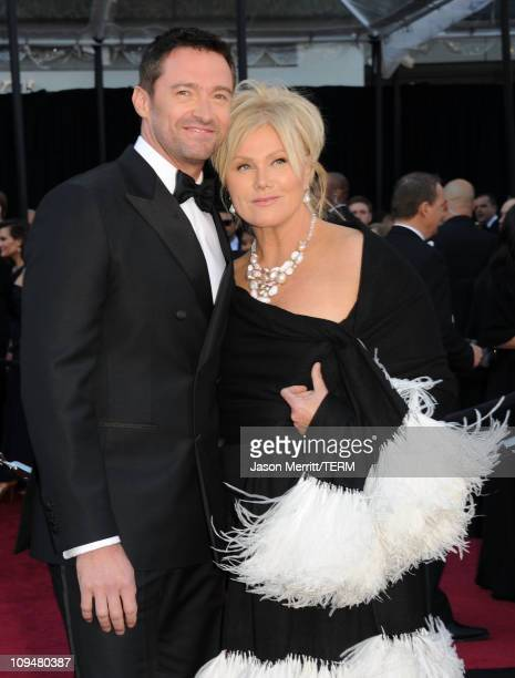 Actor Hugh Jackman and wife DeborraLee Furness arrive at the 83rd Annual Academy Awards held at the Kodak Theatre on February 27 2011 in Hollywood...