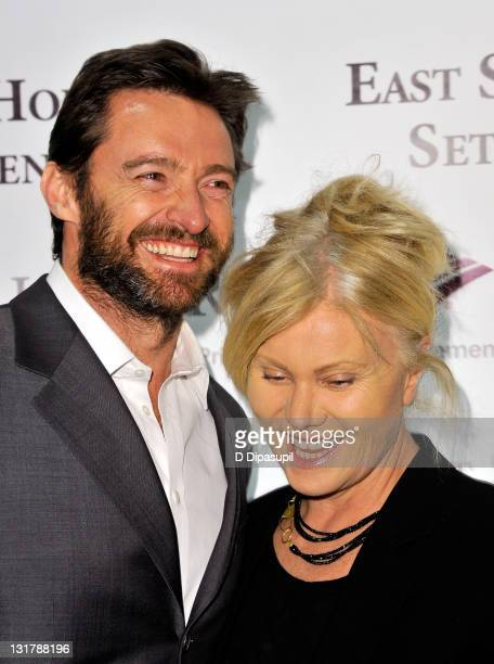 Actor Hugh Jackman and wife DeborraLee Furness attend the opening night of the 57th annual Winter Antiques Show at the Park Avenue Armory on January...