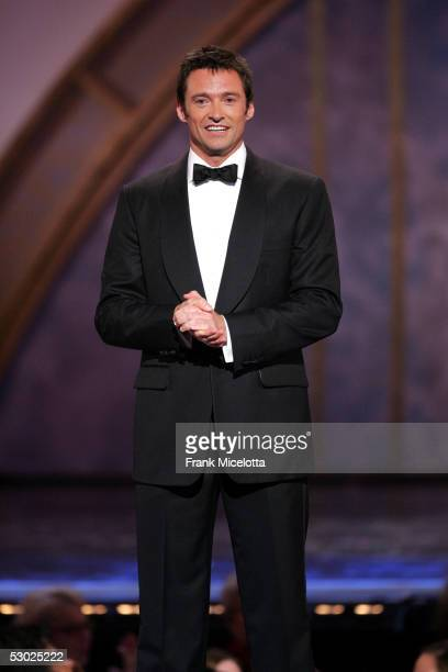 Actor Hugh Jackman appears onstage at the 59th Annual Tony Awards at Radio City Music Hall June 5 2005 in New York City