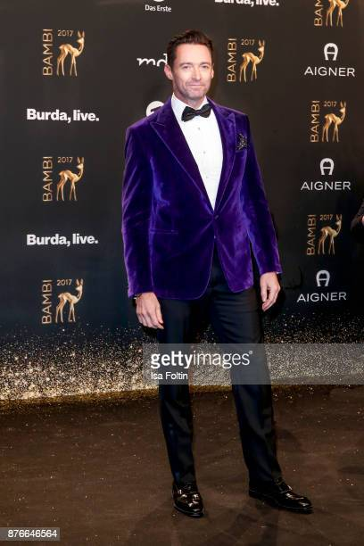 US actor Hugh Jackman arrives at the Bambi Awards 2017 at Stage Theater on November 16 2017 in Berlin Germany