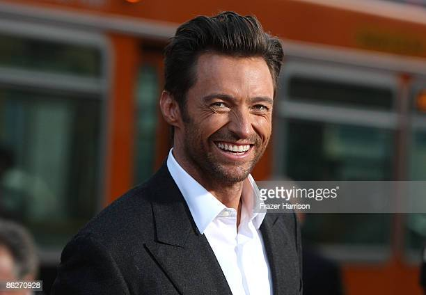 """Actor Hugh Jackman, arrives at the Screening Of 20th Century Fox's """"X-Men Origins: Wolverine"""" on April 28, 2009 at the Gruman's Manns Chinese Theater..."""