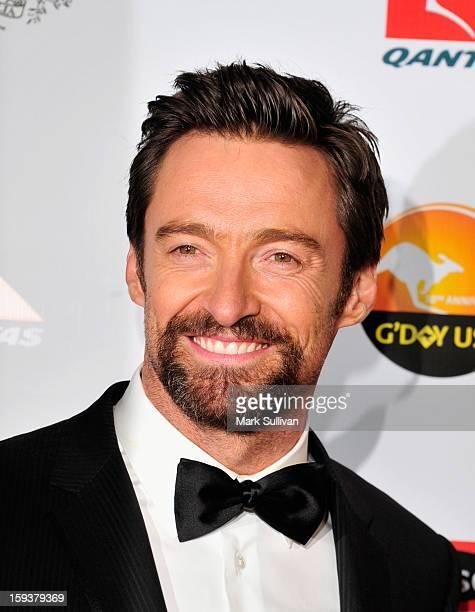 Actor Hugh Jackman arrives for the G'Day USA Black Tie Gala held at at the JW Marriot at LA Live on January 12 2013 in Los Angeles California