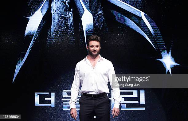 """Actor Hugh Jackman attends during """"The Wolverine"""" press conference at Hyatt Hotel on July 15, 2013 in Seoul, South Korea."""