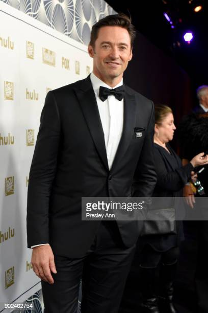 Actor Hugh Jackman attends FOX FX and Hulu 2018 Golden Globe Awards After Party at The Beverly Hilton Hotel on January 7 2018 in Beverly Hills...