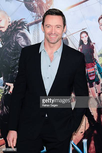 Actor Hugh Jackman attends 'Pan' premiere at Ziegfeld Theater on October 4 2015 in New York City