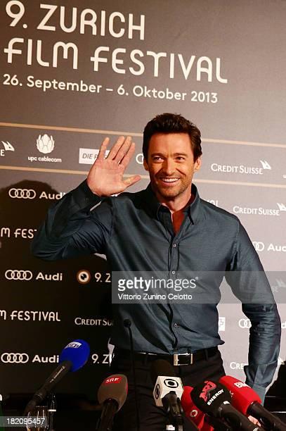 Actor Hugh Jackman attends 'Prisoners' Press Conference held at Baur au lac on September 28 2013 in Zurich Switzerland