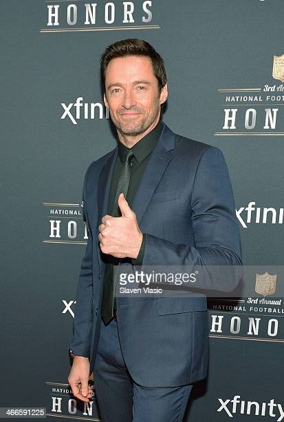 Actor Hugh Jackman attends the 3rd Annual NFL Honors at Radio City Music Hall on February 1 2014 in New York City