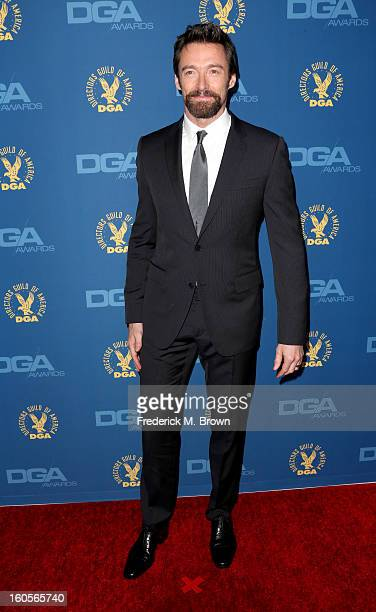Actor Hugh Jackman attends the 65th Annual Directors Guild Of America Awards at Ray Dolby Ballroom at Hollywood Highland on February 2 2013 in Los...