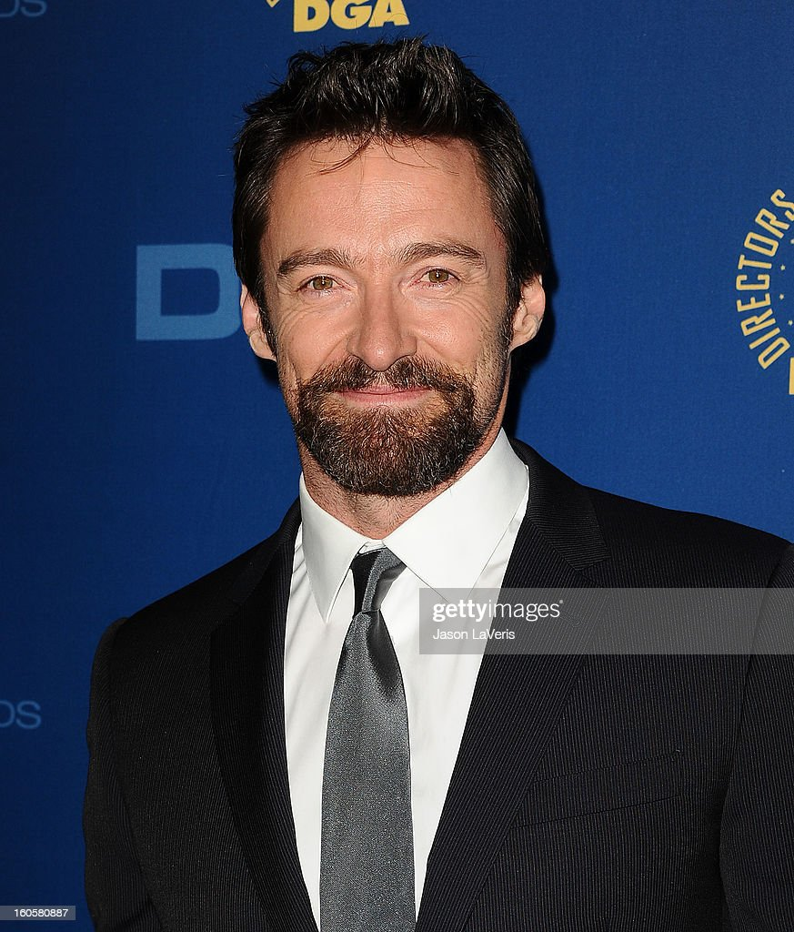 Actor Hugh Jackman attends the 65th annual Directors Guild Of America Awards at The Ray Dolby Ballroom at Hollywood & Highland Center on February 2, 2013 in Hollywood, California.