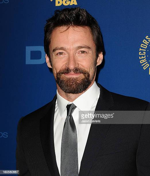 Actor Hugh Jackman attends the 65th annual Directors Guild Of America Awards at The Ray Dolby Ballroom at Hollywood Highland Center on February 2...