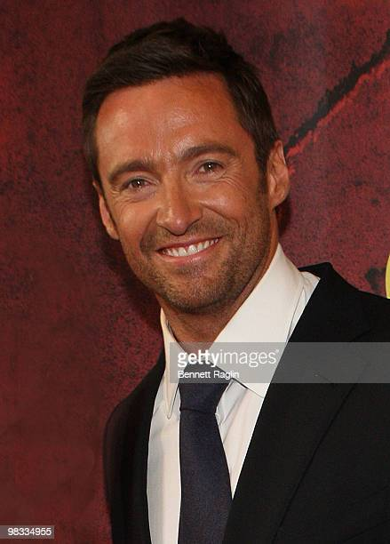 Actor Hugh Jackman attends the Broadway opening of The Addams Family at the LuntFontanne Theatre on April 8 2010 in New York City