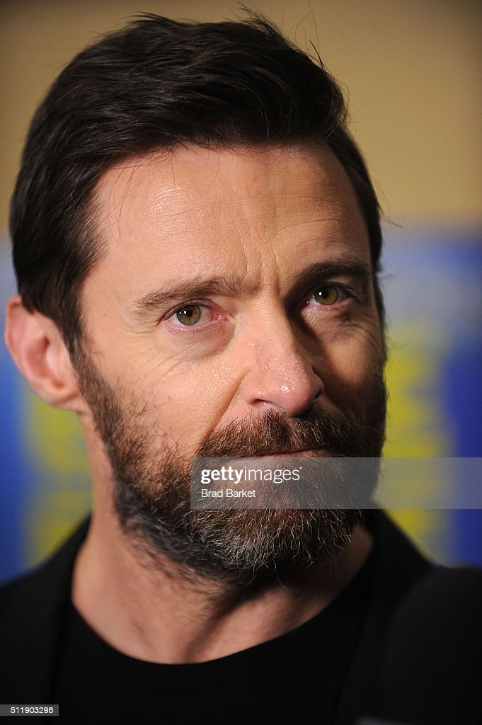 Actor Hugh Jackman attends the 'Eddie The Eagle' New York Screening at Chelsea Bow Tie Cinemas on February 23, 2016 in New York City.