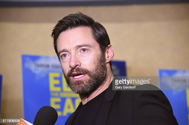 Actor Hugh Jackman attends the 'Eddie The Eagle' New York screening at Chelsea Bow Tie Cinemas on February 23 2016 in New York City