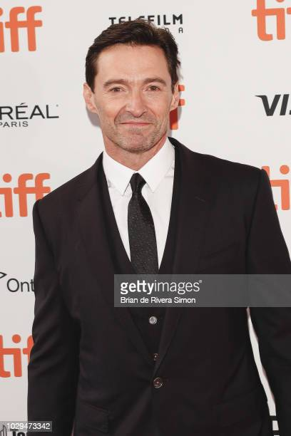 Actor Hugh Jackman attends The Front Runner premiere at Ryerson Theatre on September 8 2018 in Toronto Canada