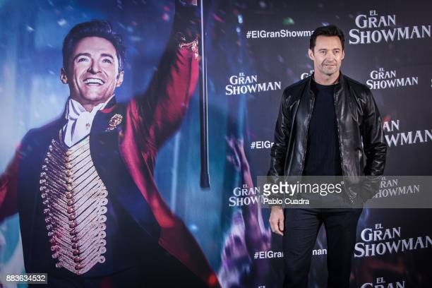 Actor Hugh Jackman attends 'The Greatest Showman' photocall at the Villa Magna Hotel on December 1 2017 in Madrid Spain