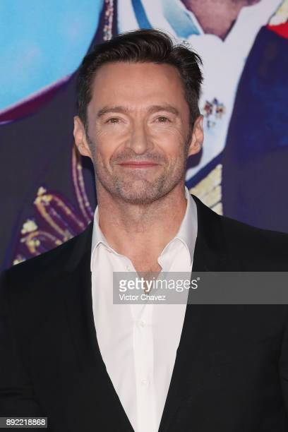 Actor Hugh Jackman attends 'The Greatest Showman' premiere red carpet at Oasis Coyoacan on December 13 2017 in Mexico City Mexico