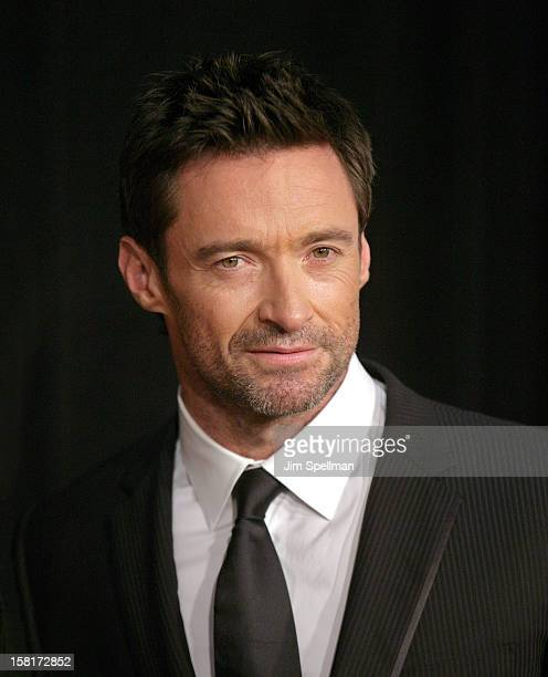"""Actor Hugh Jackman attends the """"Les Miserables"""" New York premiere at Ziegfeld Theatre on December 10, 2012 in New York City."""