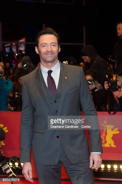Actor Hugh Jackman attends the 'Logan' premiere during the 67th Berlinale International Film Festival Berlin at Berlinale Palace on February 17 2017...
