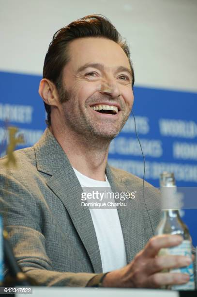 Actor Hugh Jackman attends the 'Logan' press conference during the 67th Berlinale International Film Festival Berlin at Grand Hyatt Hotel on February...