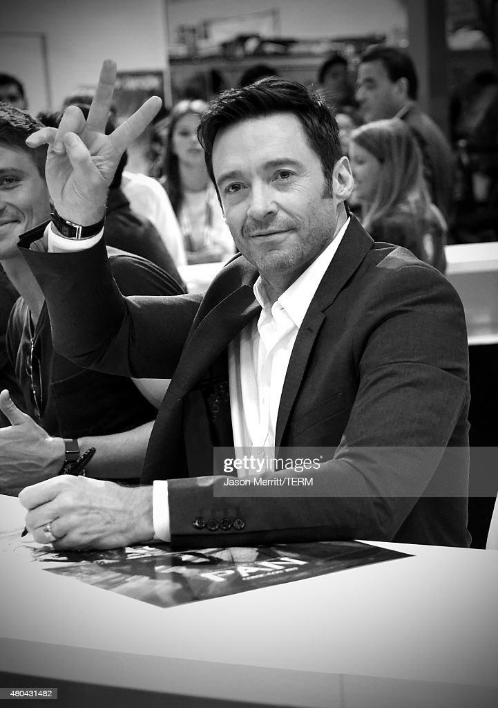 Actor Hugh Jackman attends the 'Pan' autograph signing during Comic-Con International 2015 at the San Diego Convention Center on July 11, 2015 in San Diego, California.