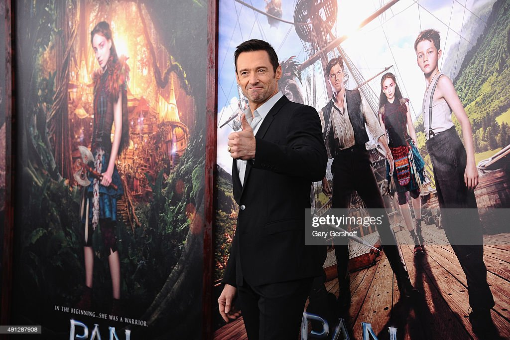 Actor Hugh Jackman attends the 'Pan' New York premiere at the Ziegfeld Theater on October 4, 2015 in New York City.