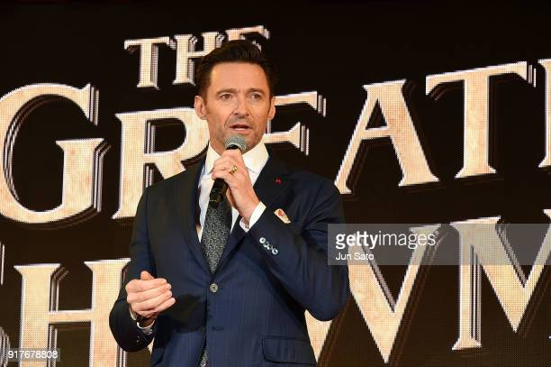 Actor Hugh Jackman attends the premier event for 'The Greatest Showman' at Kabukicho Cinecity Park on February 13 2018 in Tokyo Japan