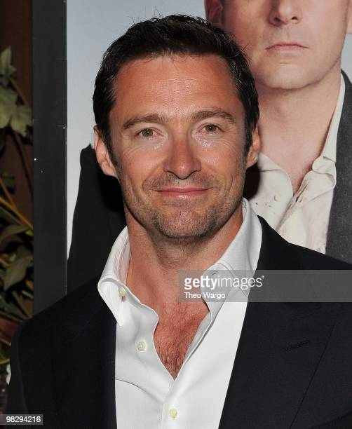 """Actor Hugh Jackman attends the premiere of """"Date Night"""" at Ziegfeld Theatre on April 6, 2010 in New York City."""