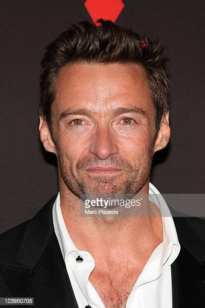 Actor Hugh Jackman attends the 'Real Steel' premiere at Le Grand Rex on September 6 2011 in Paris France