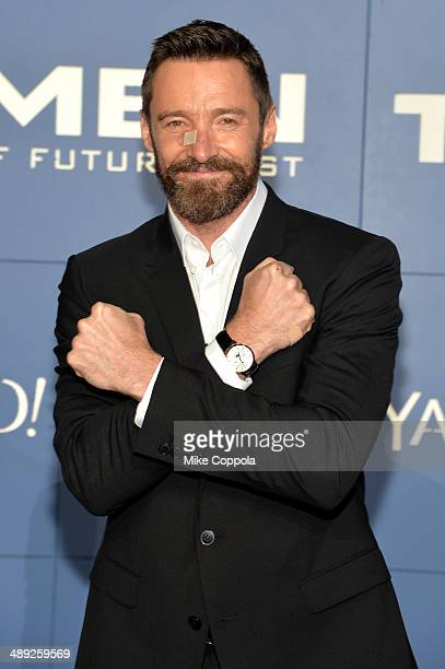 Actor Hugh Jackman attends the 'XMen Days Of Future Past' world premiere at Jacob Javits Center on May 10 2014 in New York City