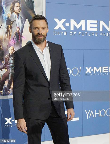 """Actor Hugh Jackman attends the """"X-Men: Days Of Future Past"""" world premiere at Jacob Javits Center on May 10, 2014 in New York City."""