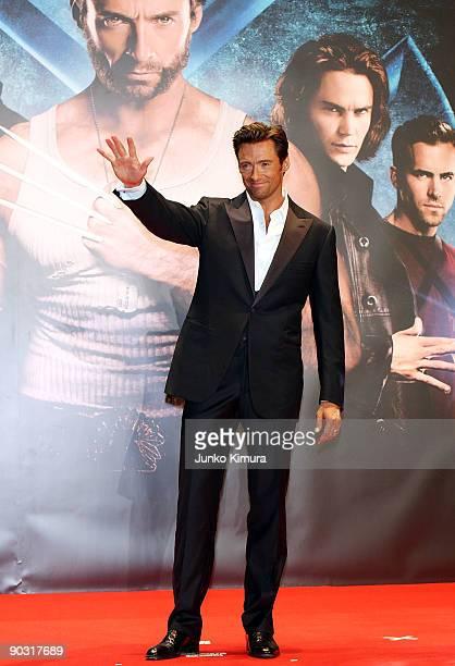 "Actor Hugh Jackman attends the ""X-Men Origins: Wolverine"" Japan Premiere at Roppongi Hills on September 3, 2009 in Tokyo, Japan. The film will open..."