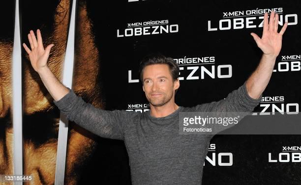 "Actor Hugh Jackman attends ""X-Men Origins: Wolverine"" photocall, at Villa Magna Hotel on April 15, 2009 in Madrid, Spain."