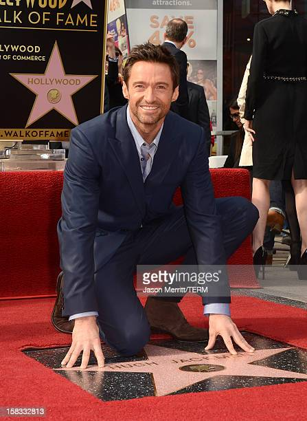 Actor Hugh Jackman is honored with a star on The Hollywood Walk Of Fame on December 13 2012 in Hollywood California